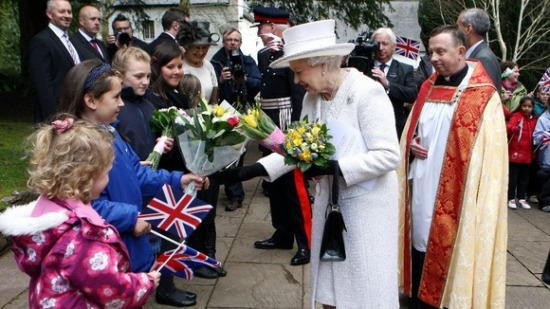 The Queen at Llandaff Cathedral