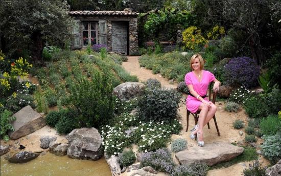 Amanda Holden in L'Occitaine Garden