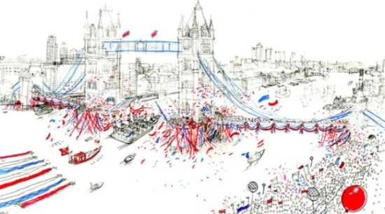 artist impression Thames Pageant