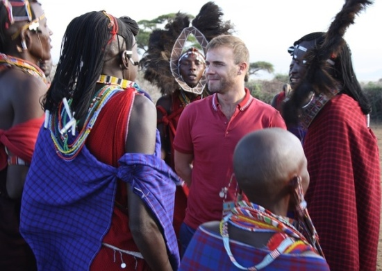 Gary Barlow tribal choir