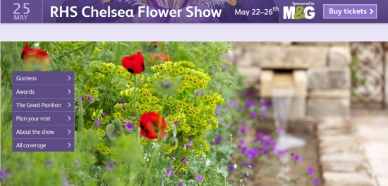 RHS Chelsea Flower Show website