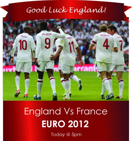 Good Luck England Euros