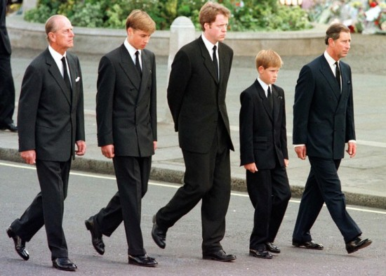 Prince William at Dianas funeral