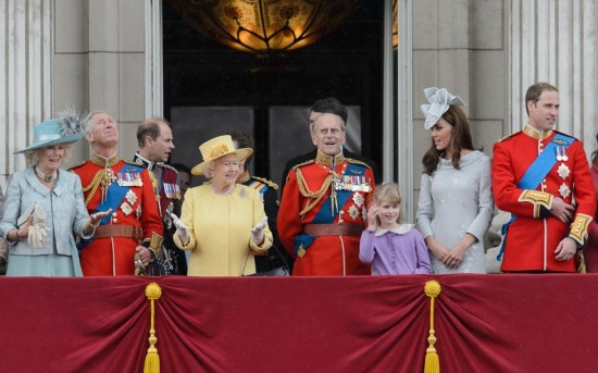 Royal Family Balcony 2012