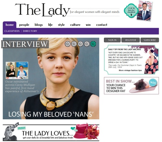 The Lady Magazine website