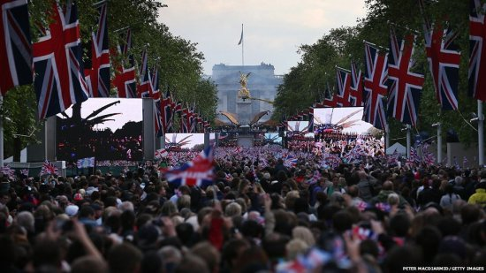 The Mall during Diamond Jubilee Concert