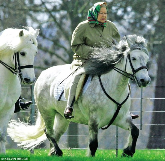 The Queen horse riding