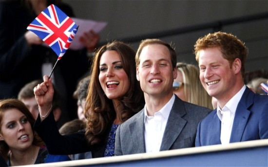 Young royals at diamond jubilee concert